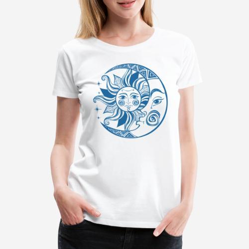 Sonnenmond Astrologie - Frauen Premium T-Shirt