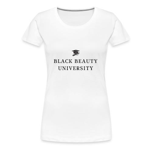 BLACK BEAUTY UNIVERSITY LOGO BLACK - T-shirt Premium Femme