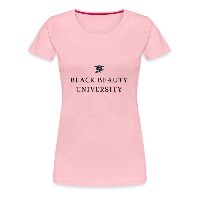 BLACK BEAUTY UNIVERSITY LOGO BLACK