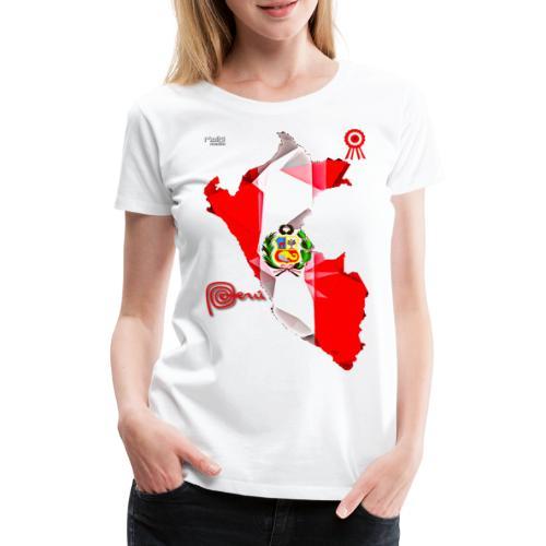 Mapa del Peru, Bandera y Escarapela - T-shirt Premium Femme