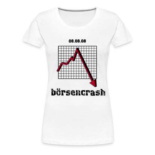 boersencrash front white - Frauen Premium T-Shirt