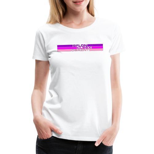 Bitmap in Drei Strich - Frauen Premium T-Shirt