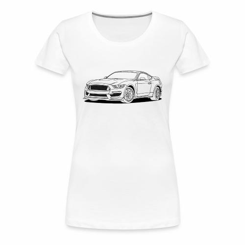 Cool Car White - Women's Premium T-Shirt