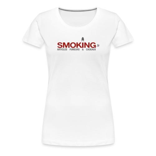 Logo Smoking.fr - T-shirt Premium Femme