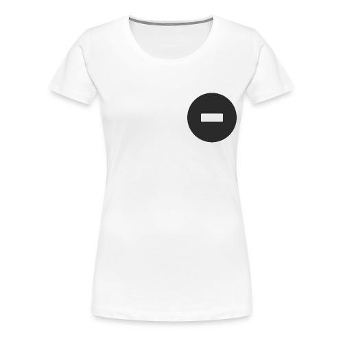 White-black button - Women's Premium T-Shirt