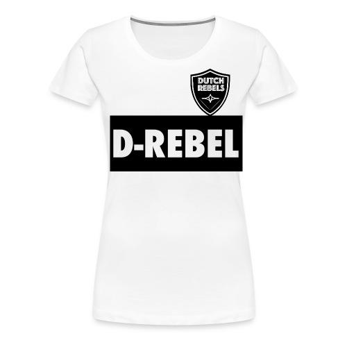 DREBEL SIDE AND STICKER - Vrouwen Premium T-shirt