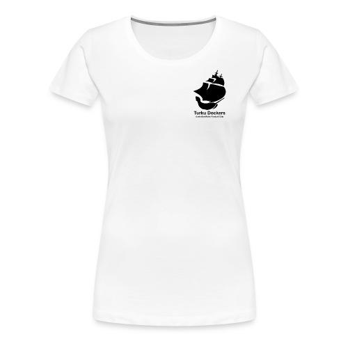Turku Dockers MUSTA logo - Naisten premium t-paita