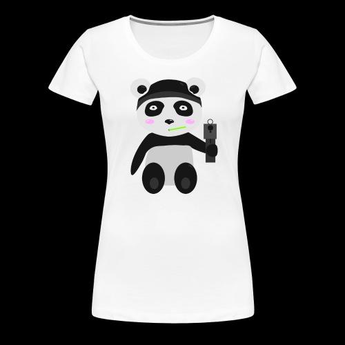 Gangsta-Panda - Frauen Premium T-Shirt