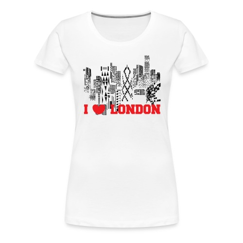 I LOVE LONDON SKYCRAPERS - Camiseta premium mujer