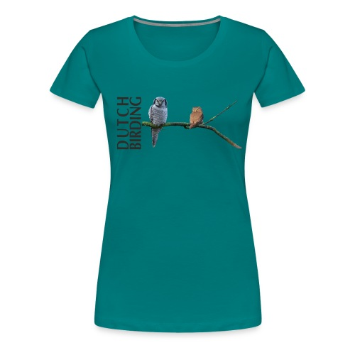 db sperweruil en dwerguil - Vrouwen Premium T-shirt