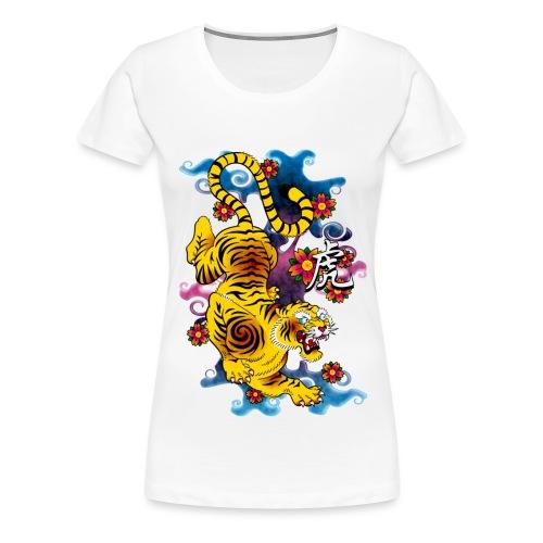 Japanese Tiger - Tattoo design - Women's Premium T-Shirt