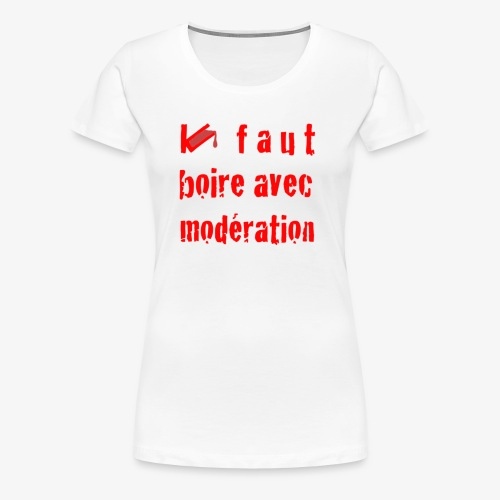 test t shirt FACE ROUGE - T-shirt Premium Femme