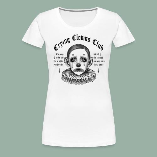 Crying Clowns Club - Black text - Dame premium T-shirt