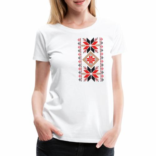 Ornament ludowy - Koszulka damska Premium