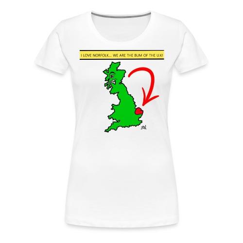 I Love Norfolk - Women's Premium T-Shirt