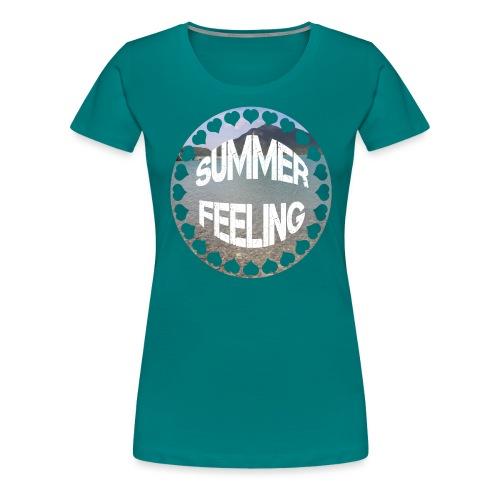LIMITED SUMMER FEELING Schriftzug - Frauen Premium T-Shirt