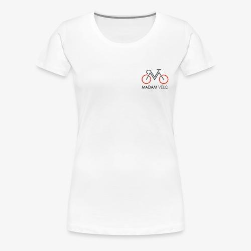 Madame Vélo-logo en tekst - Vrouwen Premium T-shirt