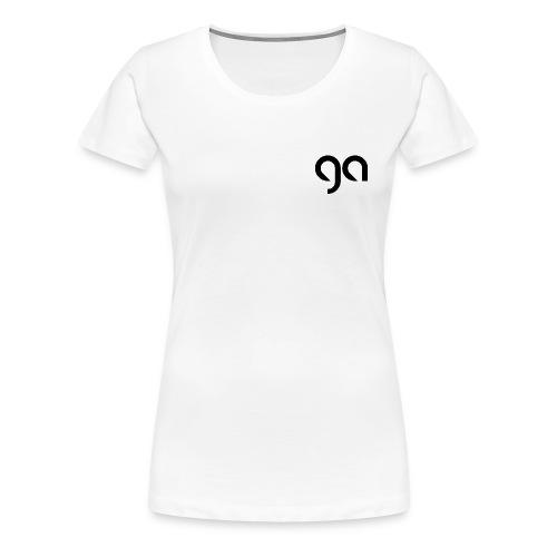 Logo Gymnasium Altlünen schwarz - Frauen Premium T-Shirt