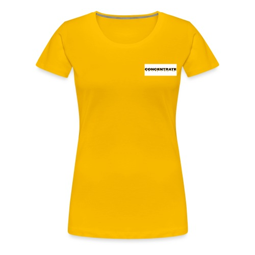 Concentrate on white - Women's Premium T-Shirt