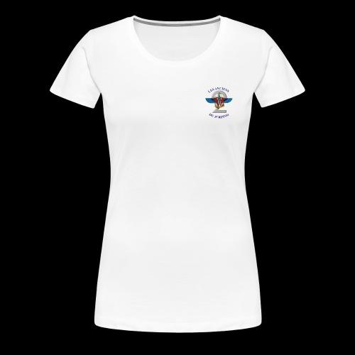 ANCIENS2 logo texte bleu detoure BD png - T-shirt Premium Femme