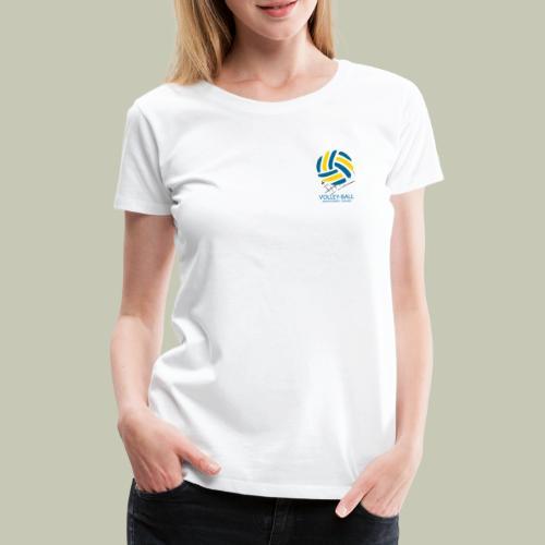 logo ballon jaune bleu - T-shirt Premium Femme