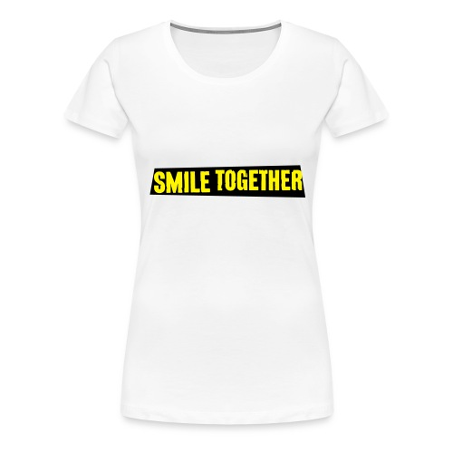 Smile Together Yellow Black - Women's Premium T-Shirt