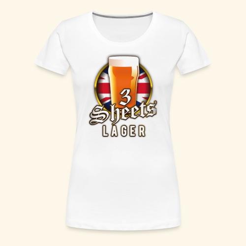 Beer Shirt Design 3 Sheets Lager - Frauen Premium T-Shirt