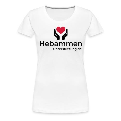 Logo Hebammen Unterstützung de schwarz klein - Frauen Premium T-Shirt