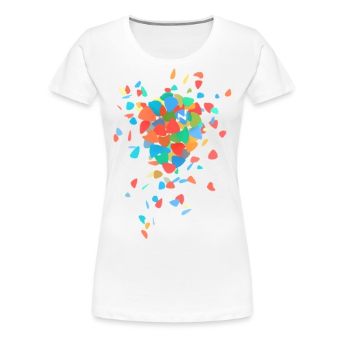 Guitar Pick Explosion - Women's Premium T-Shirt