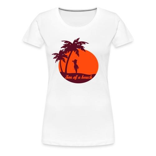 20110519 ytb shirt son rotorange pfade - Frauen Premium T-Shirt