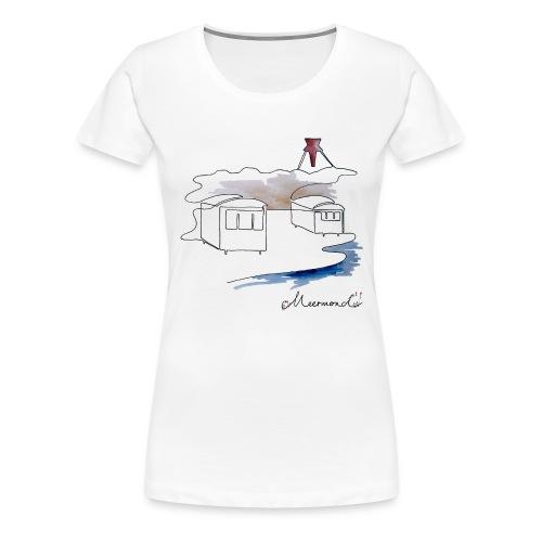 Blokhus 1 - logo - Dame premium T-shirt