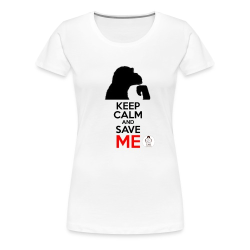 design_keep calm - T-shirt Premium Femme