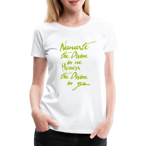 Namaste Yoga Tshirt Yogigruss vor der Yogapraxis - Frauen Premium T-Shirt