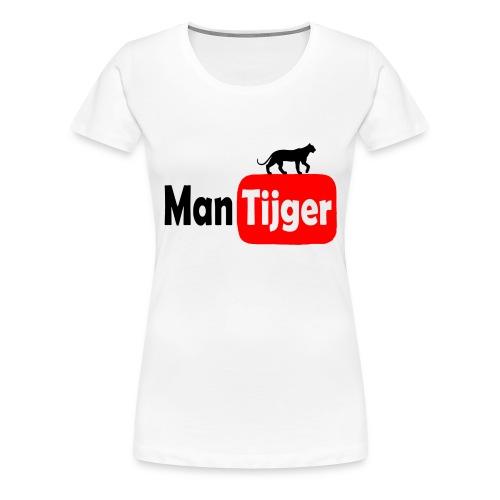 mantijger - Vrouwen Premium T-shirt