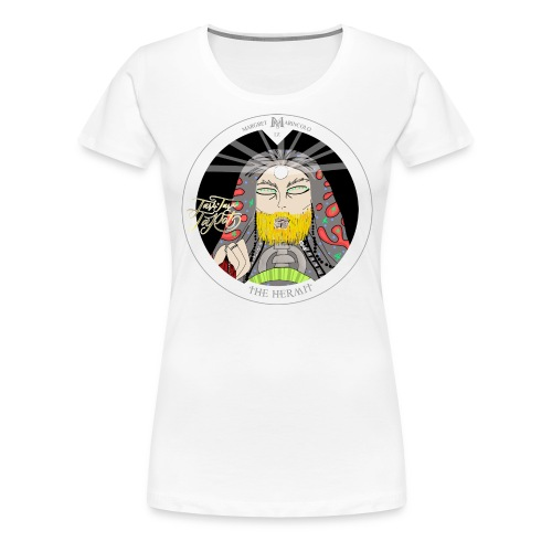 The Hermit | Der Eremit Tarot-Karte | Jungfrau - Frauen Premium T-Shirt