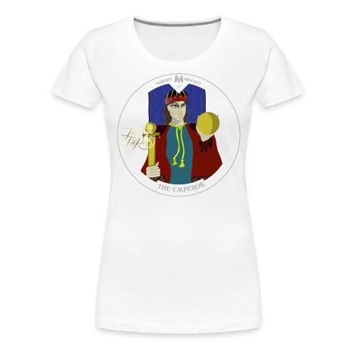 The Emperor   Der Herrscher Tarot Karte rund - Frauen Premium T-Shirt