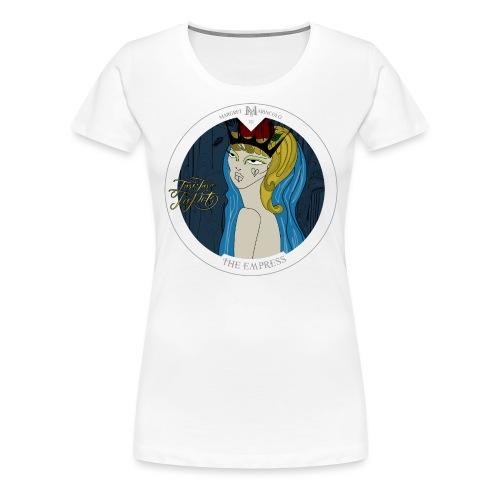 The Empress | Die Herrscherin Tarot Karte rund - Frauen Premium T-Shirt