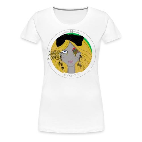 Six of Cups | Sechs der Kelche Tarot Karte - Frauen Premium T-Shirt