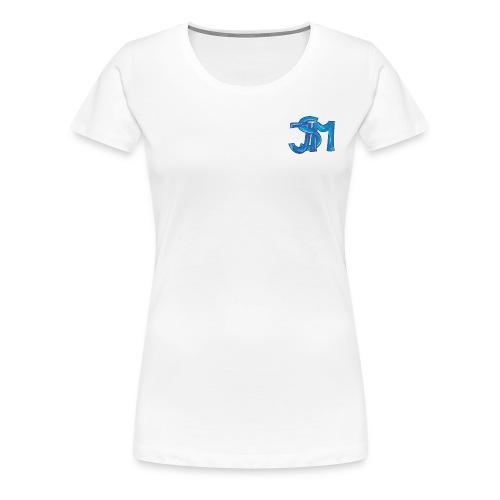 verschlungenes S blau - Frauen Premium T-Shirt