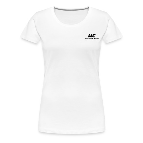WorldCraftNoir - T-shirt Premium Femme