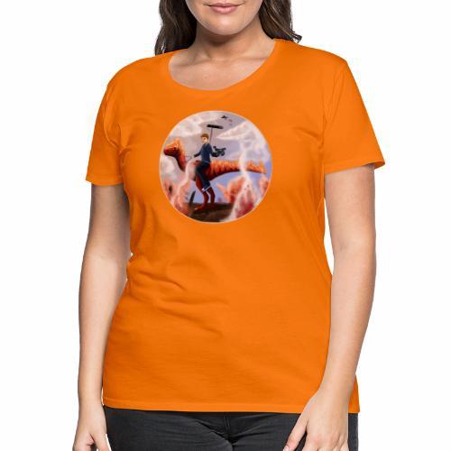 Flames-Dino-2 - Dame premium T-shirt