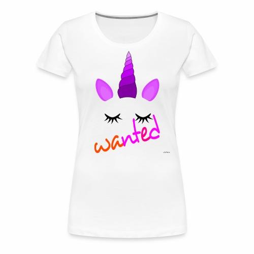 Wanted unicorn - ODIFacto design - Maglietta Premium da donna