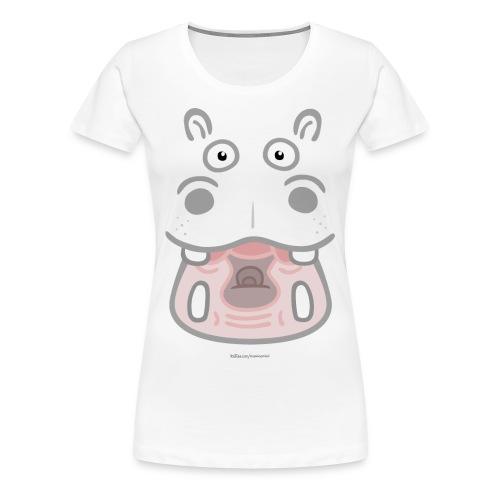 Hippo transparent dunkel 2 - Frauen Premium T-Shirt