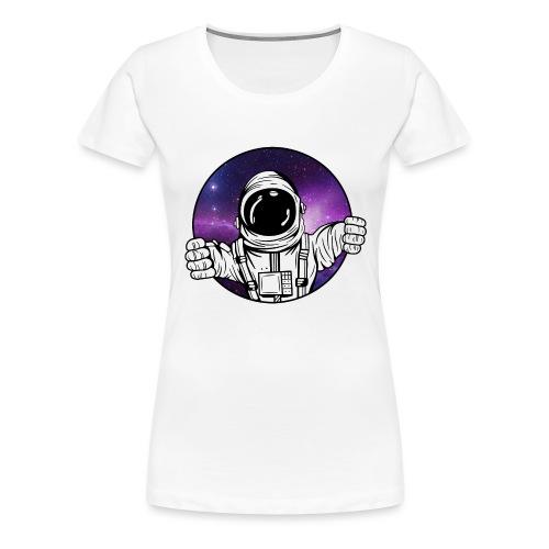 Astronaut Galaxie Weltall - Frauen Premium T-Shirt