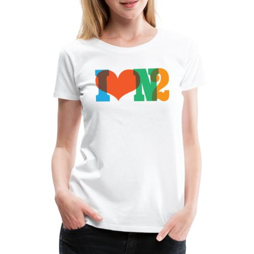 I LOVE N2 Summer Social Colours - Women's Premium T-Shirt