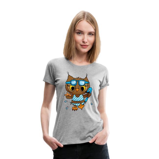 Eule mit Axt Frauen Premium T-Shirt von Spreadshirt®