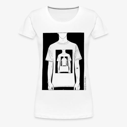 Recursion | Loop | Repeat | Optical illusion - Women's Premium T-Shirt