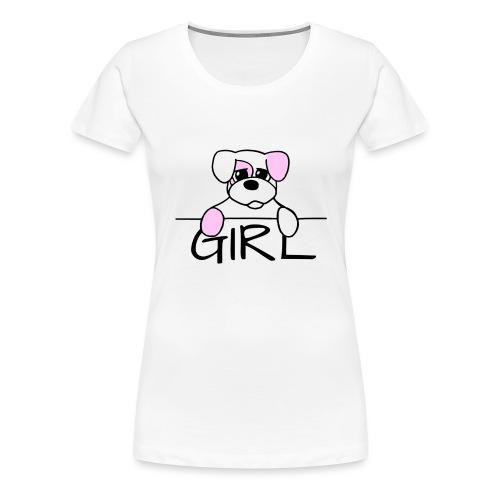 Hondje Girl - Vrouwen Premium T-shirt