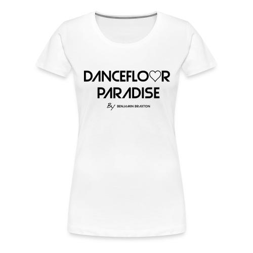 tshirt dancefloor paradise party blanc - T-shirt Premium Femme