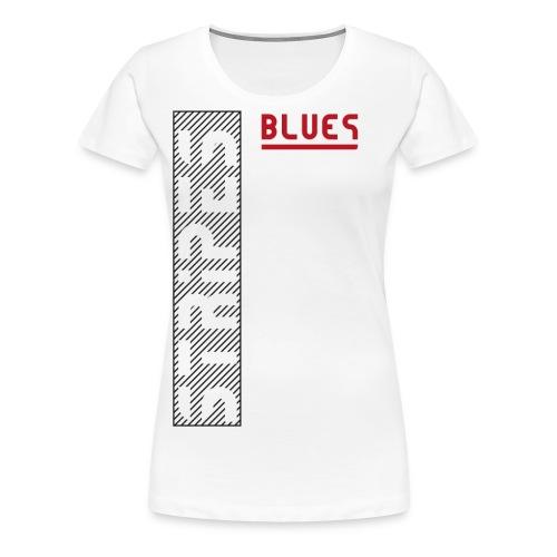 Blues Stripes - Naisten premium t-paita